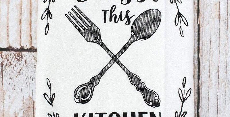 Bless This Kitchen Tea Towel