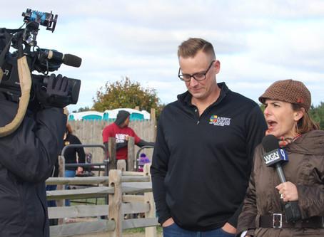 WGN's Around Town Sent a Film Crew to Abbey Farms – What Fun!