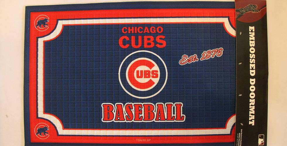 Embossed Door Mat- Chicago Cubs
