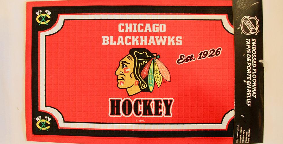 Embossed Door Mat- Chicago Blackhawks