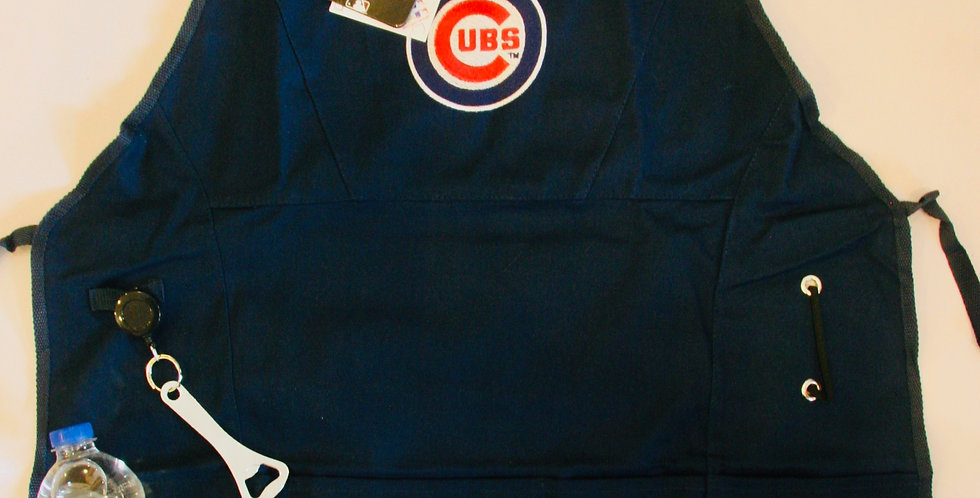 Official Cubs Grilling Apron with Beverage Pocket and Opener