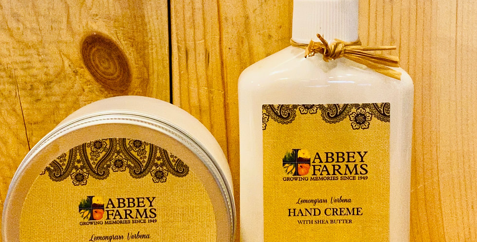 Abbey Farms Hand Creme and Salt Scrub Gift Set