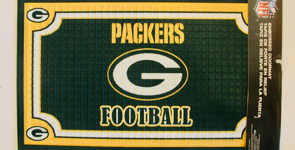 Embossed Door Mat- Green Bay Packers