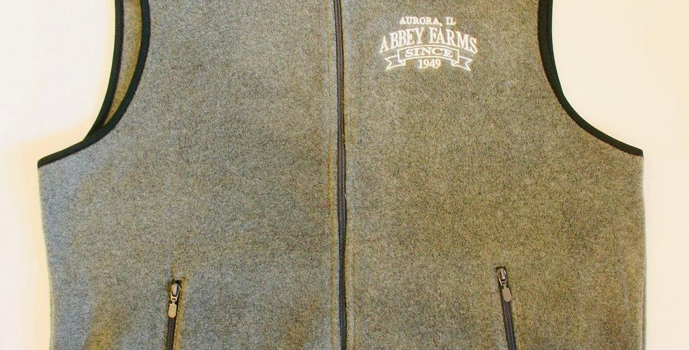 Abbey Farms Vest Zip Fleece: Gray