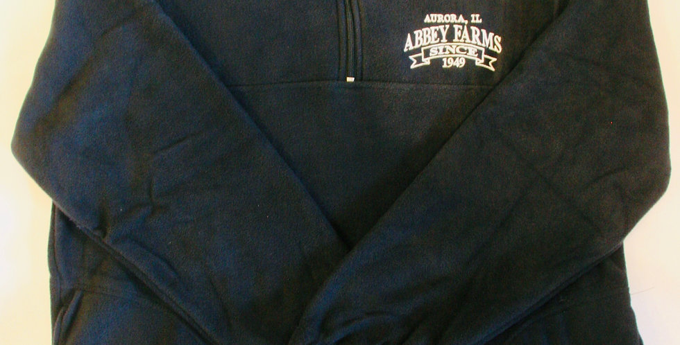 Abbey Farms Long Sleeve 1/4  Zip Fleece: Navy Blue