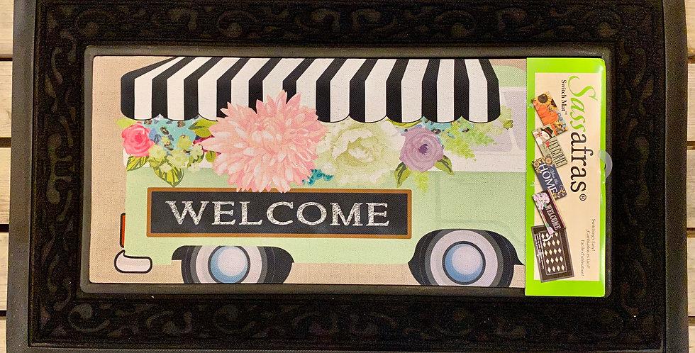 Flower Truck Burlap Sassafras Switch Mat