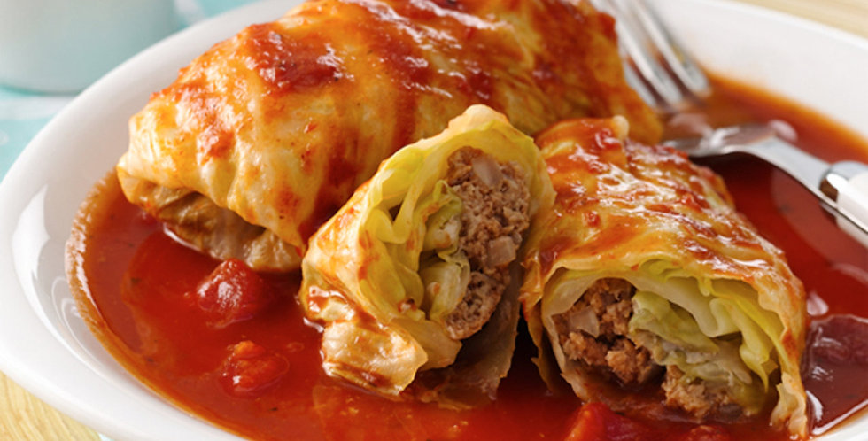 Dec 23 - Stuffed Cabbage, Roasted Red Potatoes, Cheddar Garlic Beer Bread