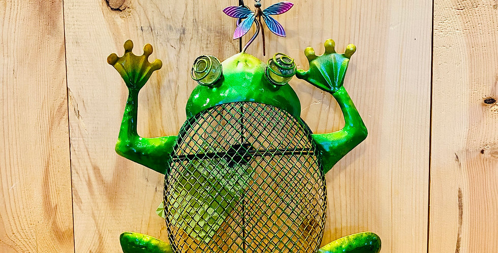 Frog Mesh Bird Feeder