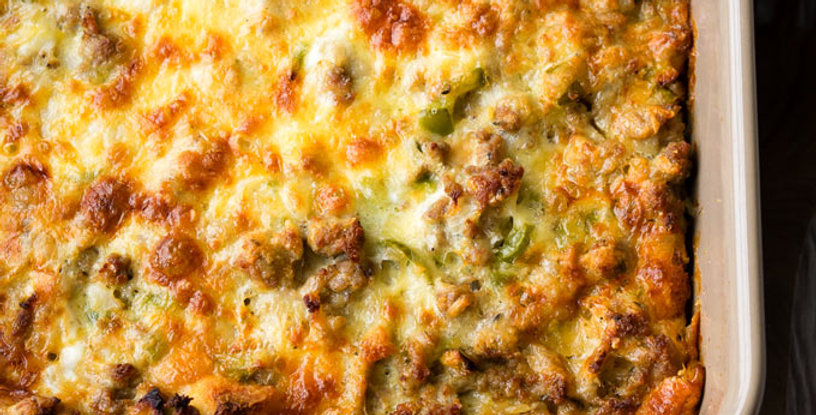 December 23 -  Chef Dave's Egg, Sausage & Cheese Christmas Morning Casserole!
