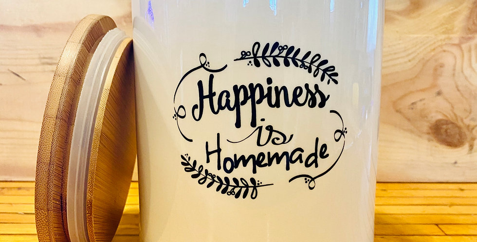 Happiness Is Homemade Jar