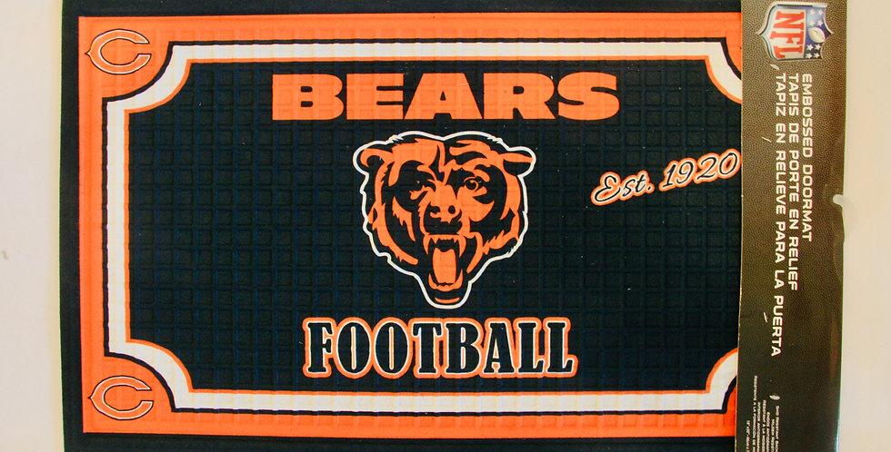 Embossed Door Mat- Chicago Bears