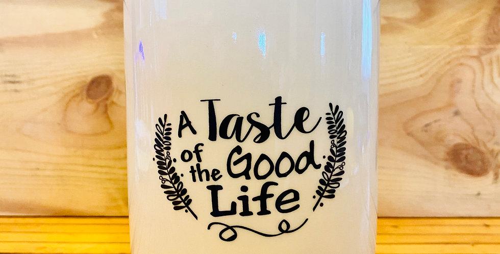 Good Life Stoneware Jar
