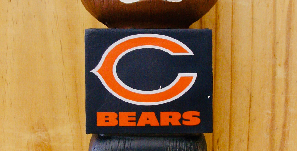 "12"" Tiki Totem- Chicago Bears"