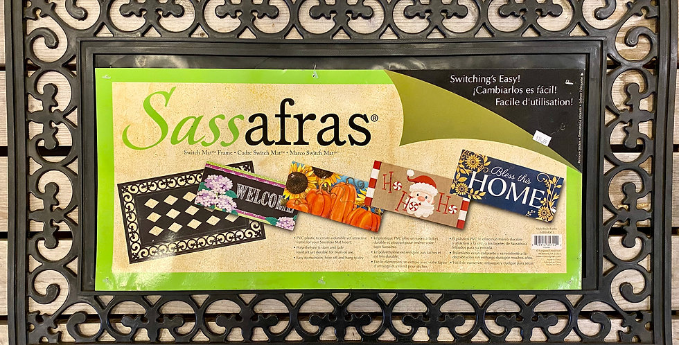 Black Scroll Sassafras Tray Mat