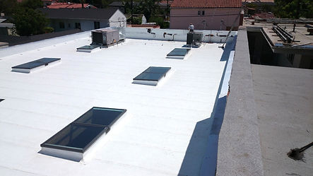 flat roof   new slylights