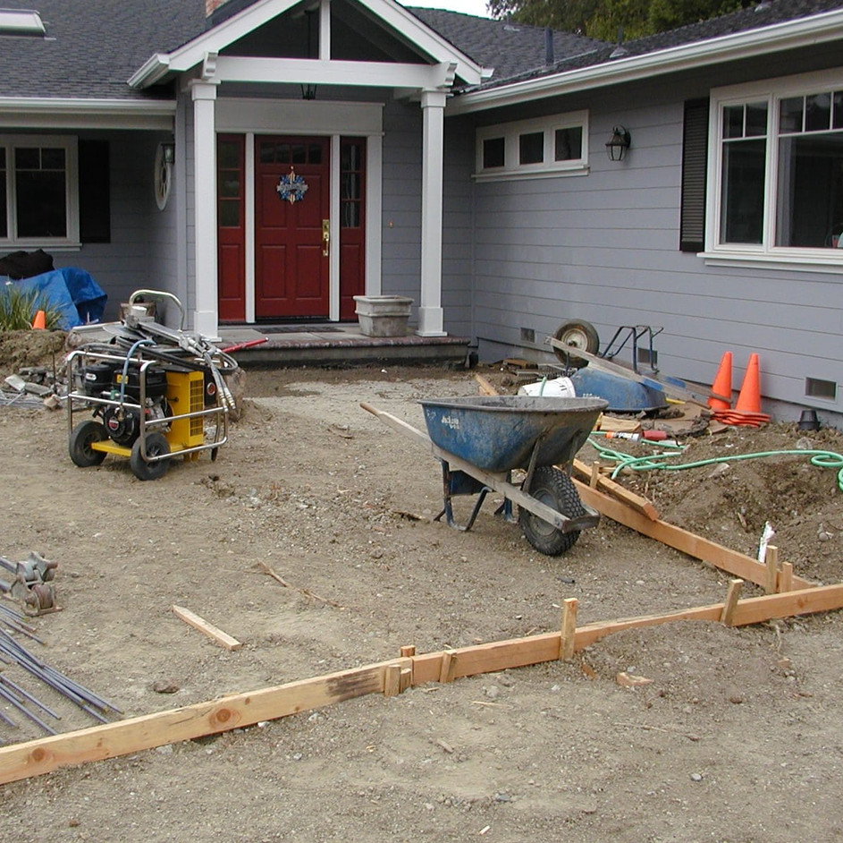 Before photo of front lawn