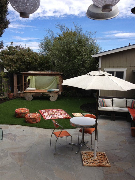 After photo of outdoor patio