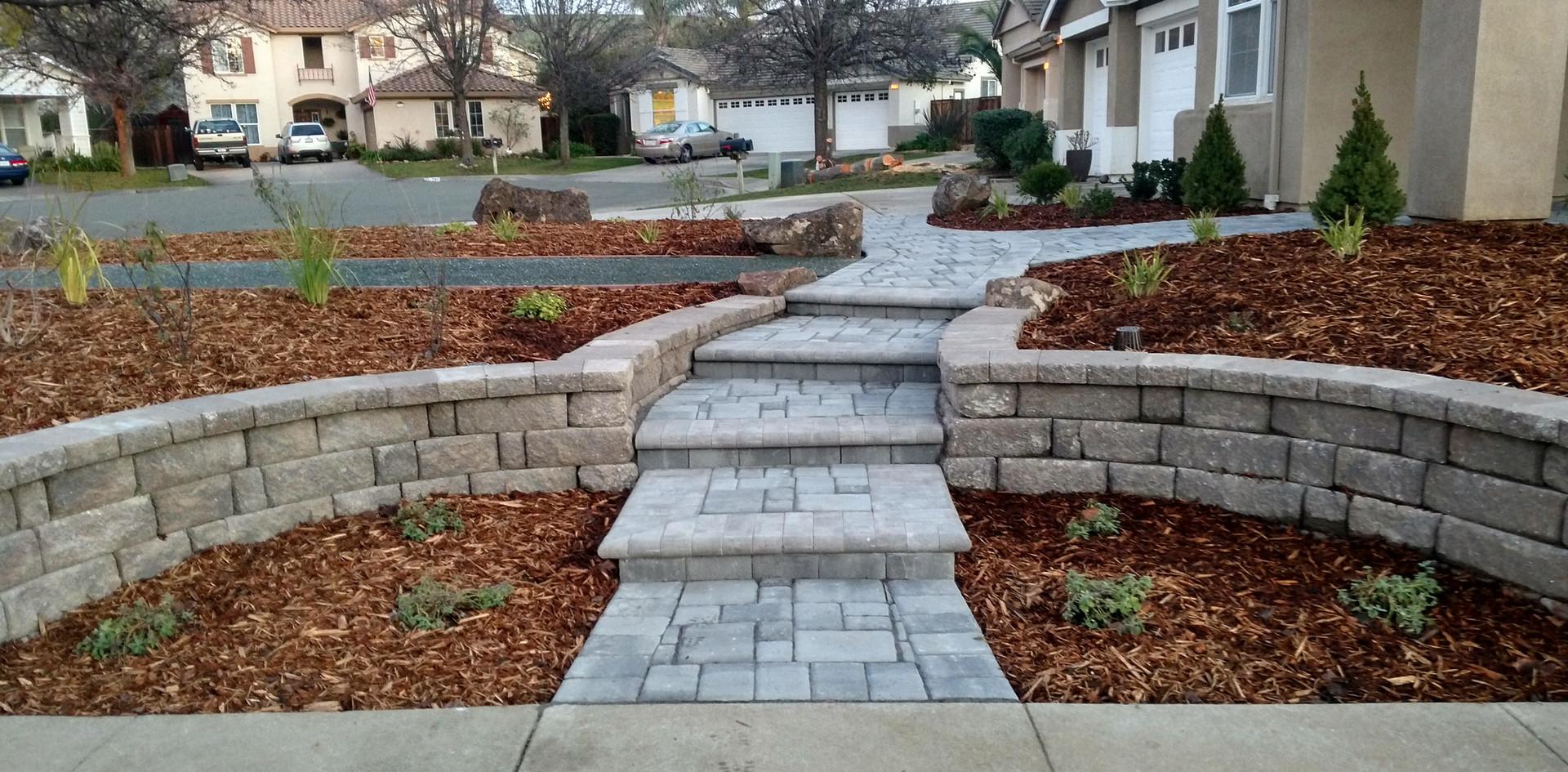 Unique solid walkway