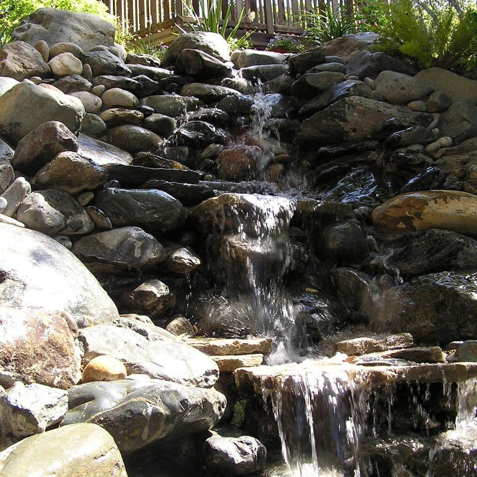 After photo of waterfall