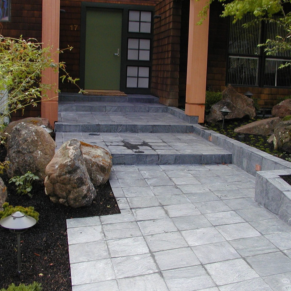After photo of front pathway