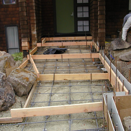 Before photo of front pathway