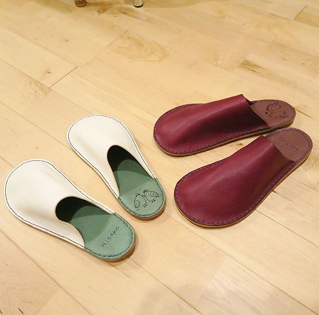 handmade leather slipper