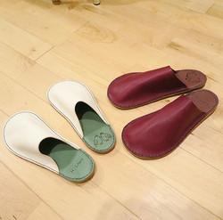 handmade leather slipper