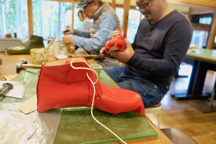今日の手作り靴教室 〜高知〜
