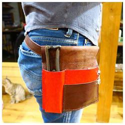 handmade leather toolsbag
