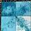 Thumbnail: Set of 4 original hand painted ceramic tiles