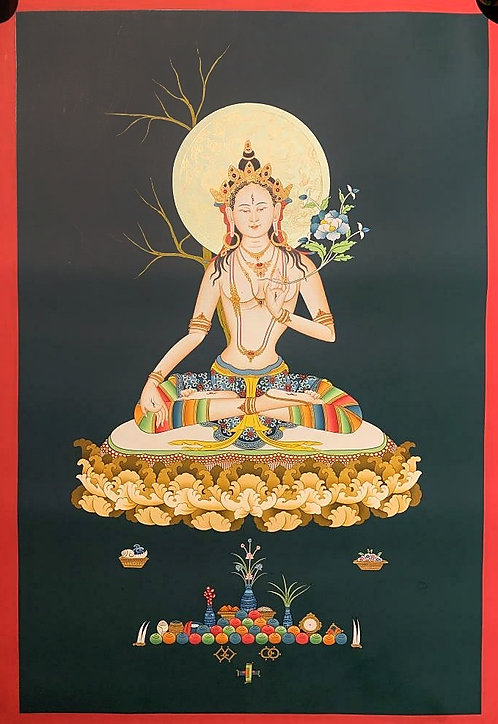 White Tara Thangka - Newa Art
