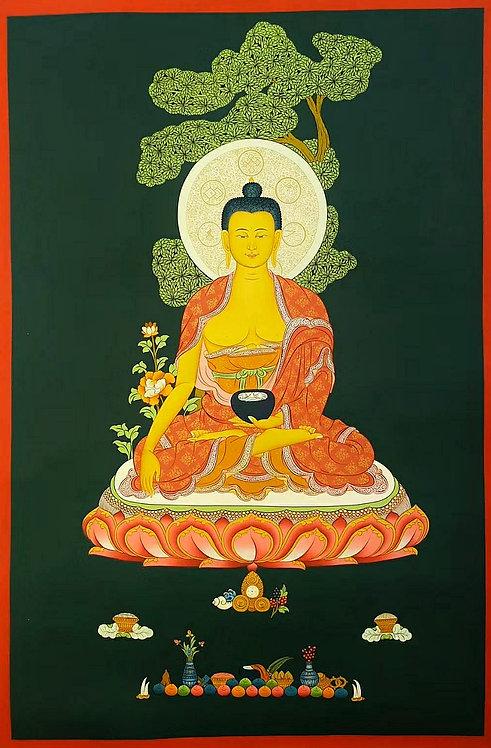Shakyamuni Buddha Thangka - Newa Art