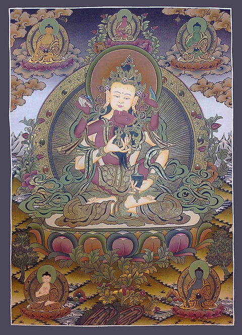 Buy Tibetan Thangka, What is Tibetan Thangka, Buy Thanka Online, Om Mani Padme Hum Mandala, Thangka Painting Online