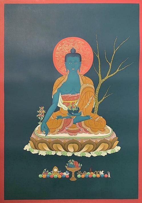 Medicine Buddha Thangka - Newa Art