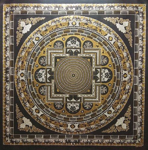Kalachakra Mandala Thangka - Lama Painted