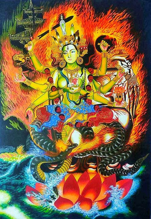 Nageshwari Maa Thangka - Newa Art