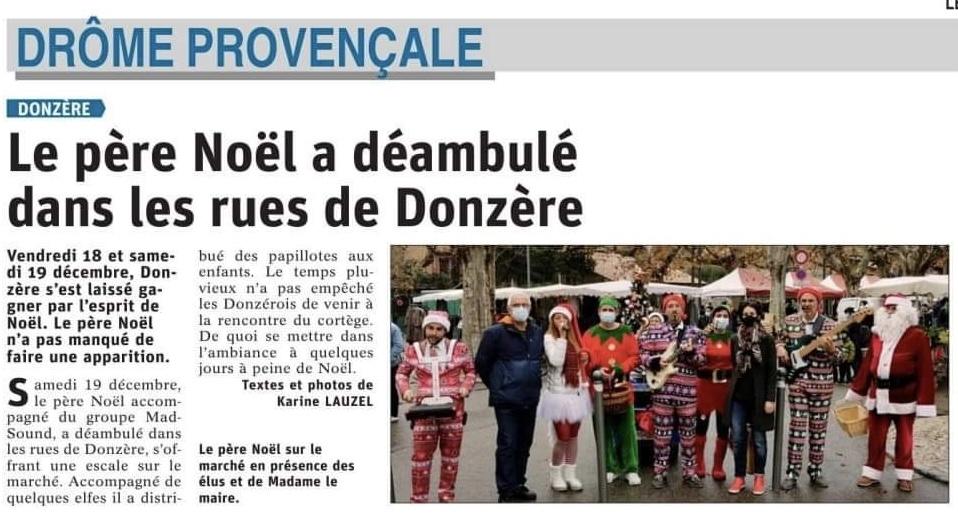 Dauphiné Libéré du 13/12/2020