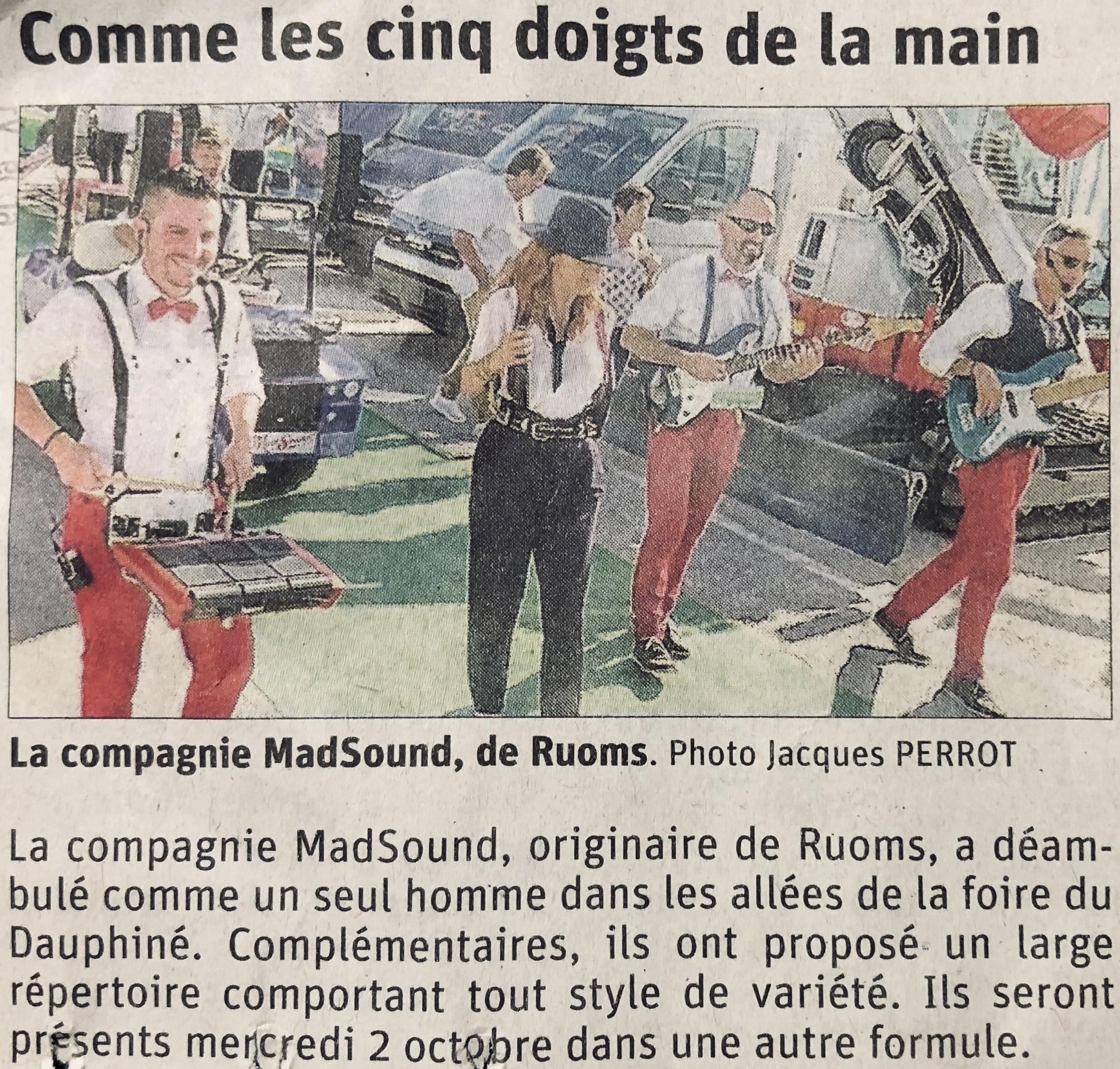 Dauphiné Libéré du 02/10/2019