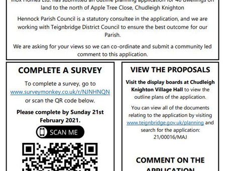 Apple Tree Close Consultation