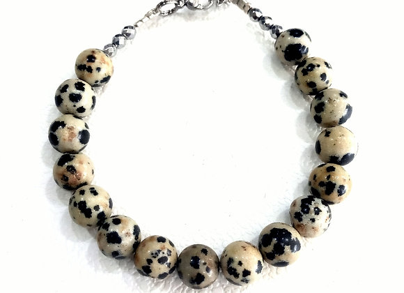 Stacker -8mm Dalmatian Jasper Ball