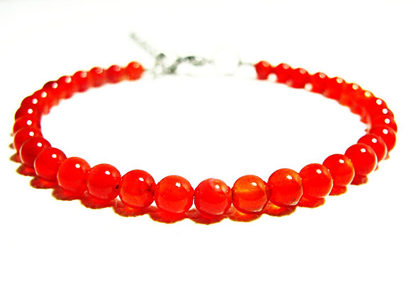 Stacker - 4mm Carnelian Agate Ball
