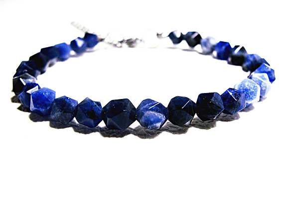 Stacker - 6mm Sodalite Faceted