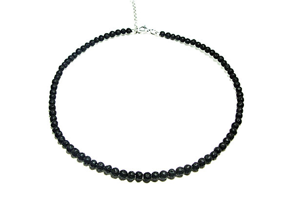 Stack Choker - 4mm Lave Stone Ball