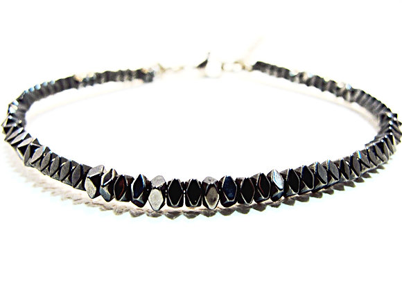 Stacker - 3mm Hematite Square