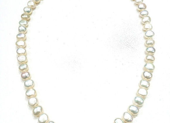 Stack Choker- 7-8 mm Coin Pearls