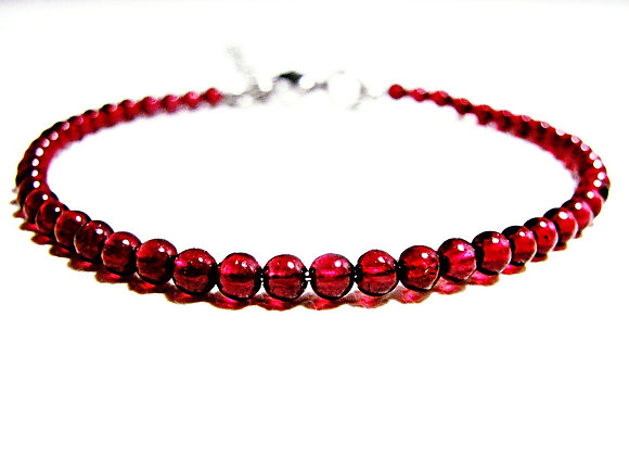 Stacker - 3mm Garnet Ball