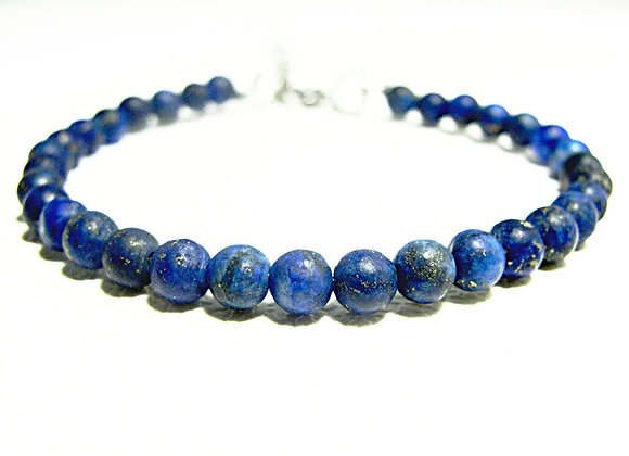Stacker - 4mm Lapis Lazuli Frosted Ball