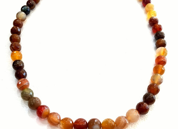 Stack Choker - 8mm Agate Ball