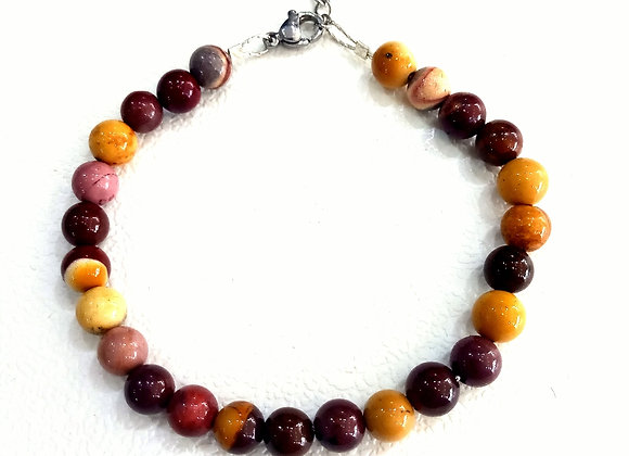 Stacker - 6mm Mookaite Jasper