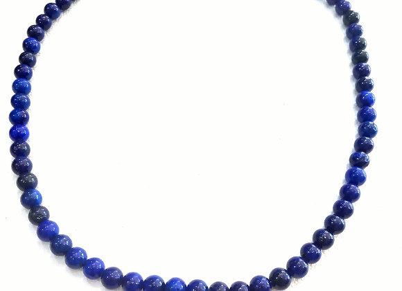 Stack Choker - 6mm Lapis Lazuli Ball
